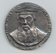 Portrait medal of Georg SvC, front side